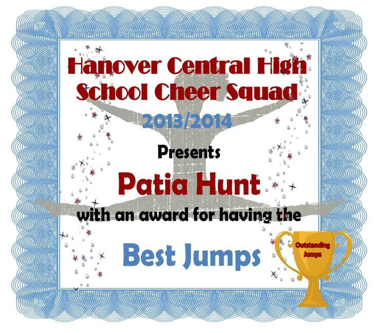 548 best cheer images on pinterest cheer camp cheer dance and sample of one of our fun cheer award certificates that the team votes on for our yelopaper Choice Image