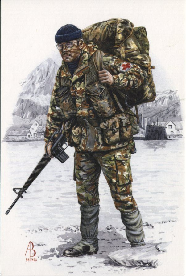 Alix Baker Postcard - AB28/7 Corporal (Medical Assistant), Royal Army Medical Corps, South Georgia 1982