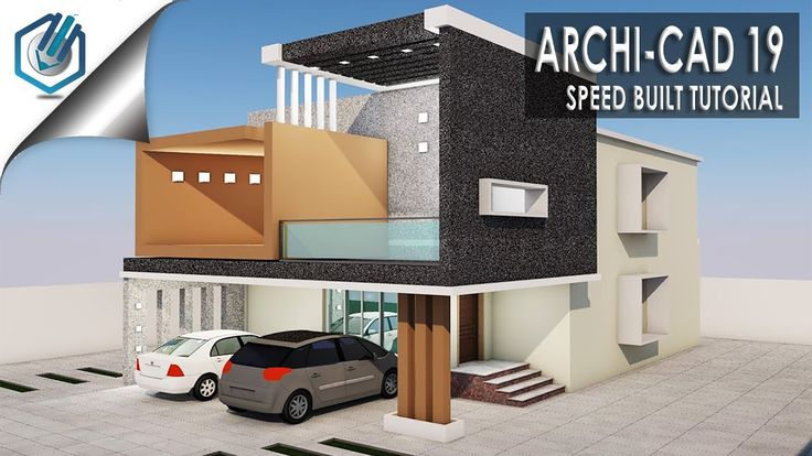 Archi Cad 19 SPEED BUILD Modern Residential Building