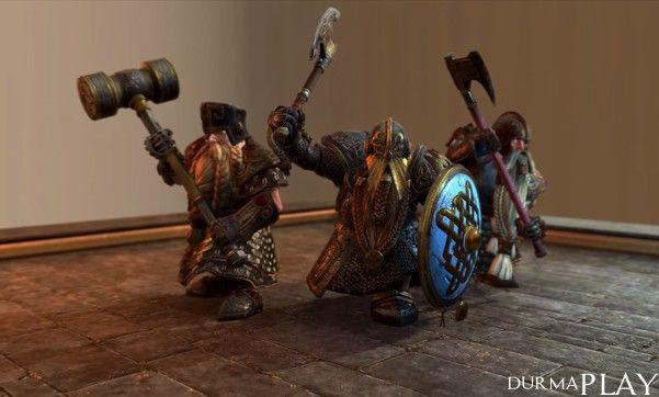 http://www.durmaplay.com/News/cuce-cekic-ve-baltalari-tanitildi   1987 yilindan bu yana video oyun sektöründe aktif bir sekilde faaliyetlerini sürdüren Ingiliz sirket The Creative Assembly tarafindan serinin 10 oyunu olarak gelistirilen Total War Warhammer için oyunculari heyecanlandiran bir video paylasildi
