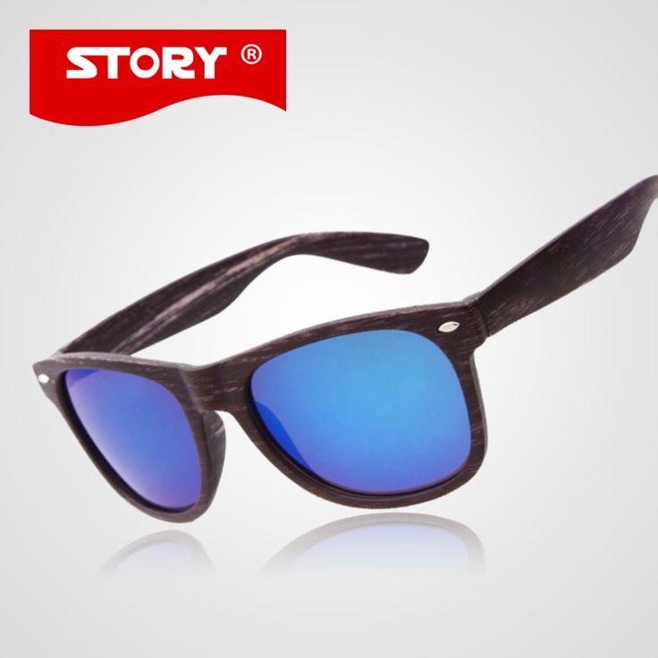 STORY Brand Wood Sunglasses Fashion Original Brand Wooden Sun Glass Men Women De Sol Masculino Gafas Madera De Sol UV400