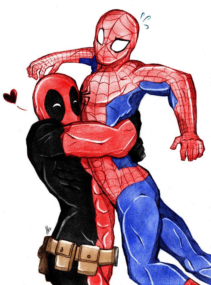 является картинки марвел дэдпул и человек паук малыши такими