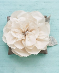 Silk Flower Ring Pillow - DIY Ring Pillows - DIY Weddings -