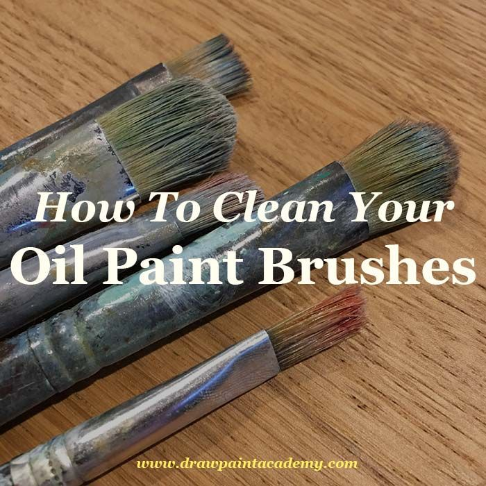 Learn the best practices for cleaning your oil paintbrushes
