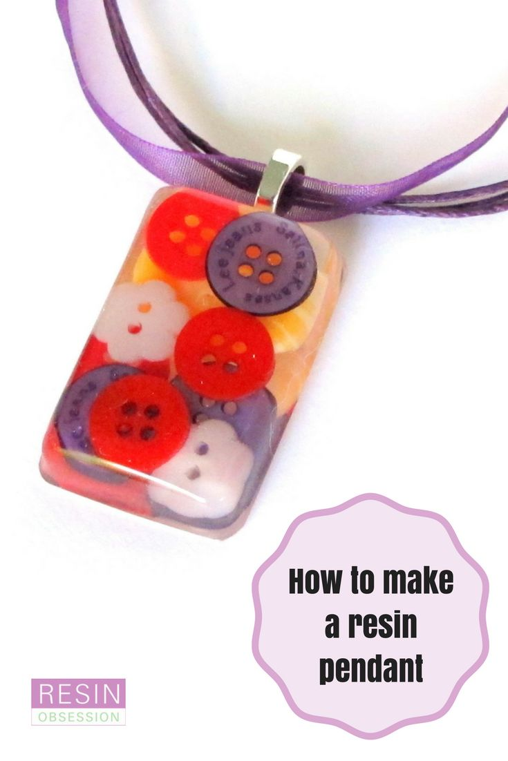 How to make a resin pendant with buttons