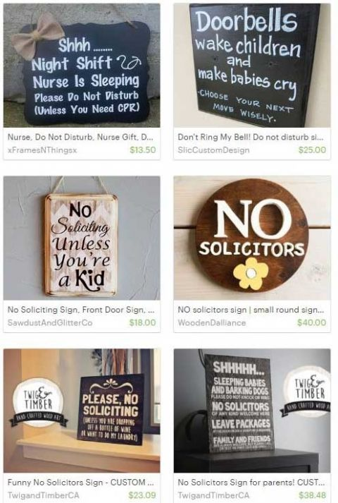 Ways to say no to solicitors at your door before they ring the bell | Favorite signs on Etsy
