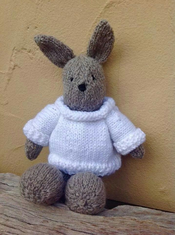 A cute bunny knitted for a baby