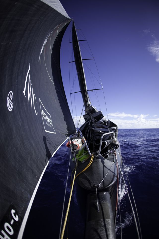Abu Dhabi Ocean Racing during leg 2 of the Volvo Ocean Race 2011-12, from Cape Town, South Africa to Abu Dhabi, UAE. (Credit: Nick Dana/Abu Dhabi Ocean Racing/Volvo Ocean Race)