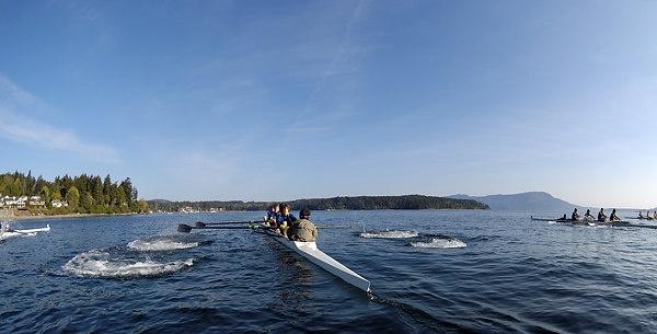 #brentwoodcollege Rowing Regatta in Mill Bay
