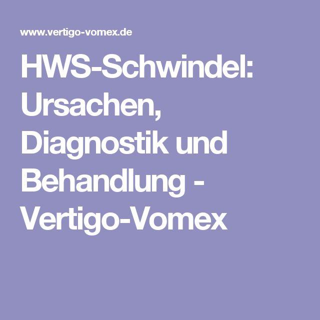 HWS-Schwindel: Ursachen, Diagnostik und Behandlung - Vertigo-Vomex