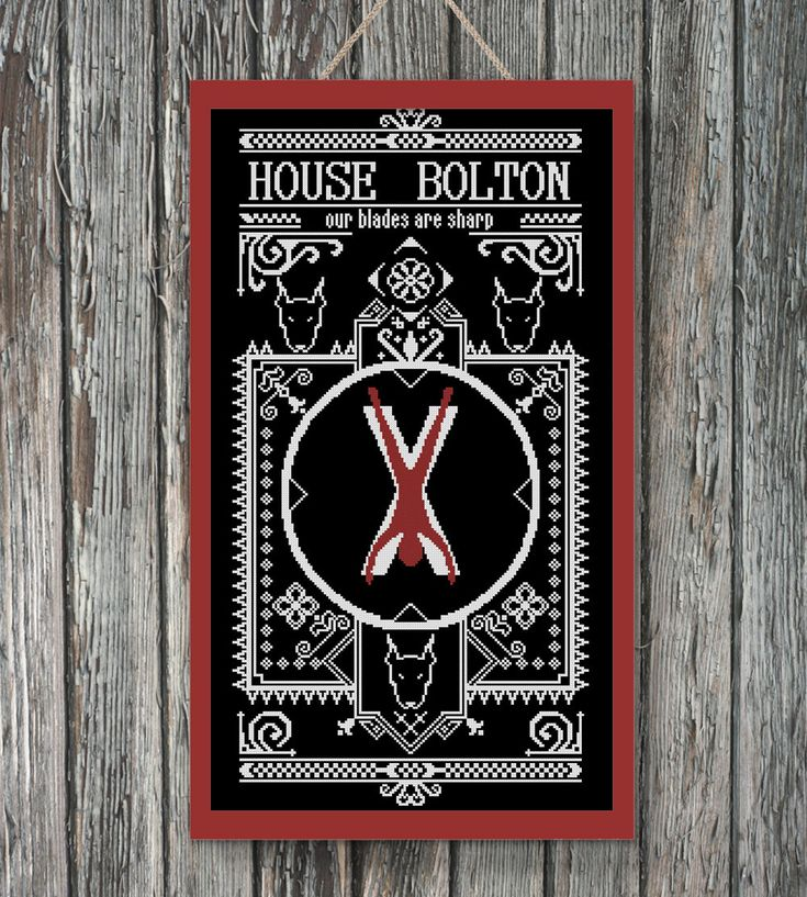 BoGo Pattern cross stitch House Bolton Games of Thrones Instant Download, Cross-Stitch PDF, Needlework, Embroidery, Digital #116 by…