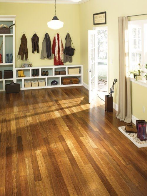 Bamboo floors. Just bought this for the first floor. Can't wait for the finished product!
