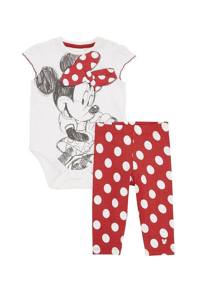 Tesco direct: Disney Minnie Mouse Bodysuit and Leggings Valentine's Set