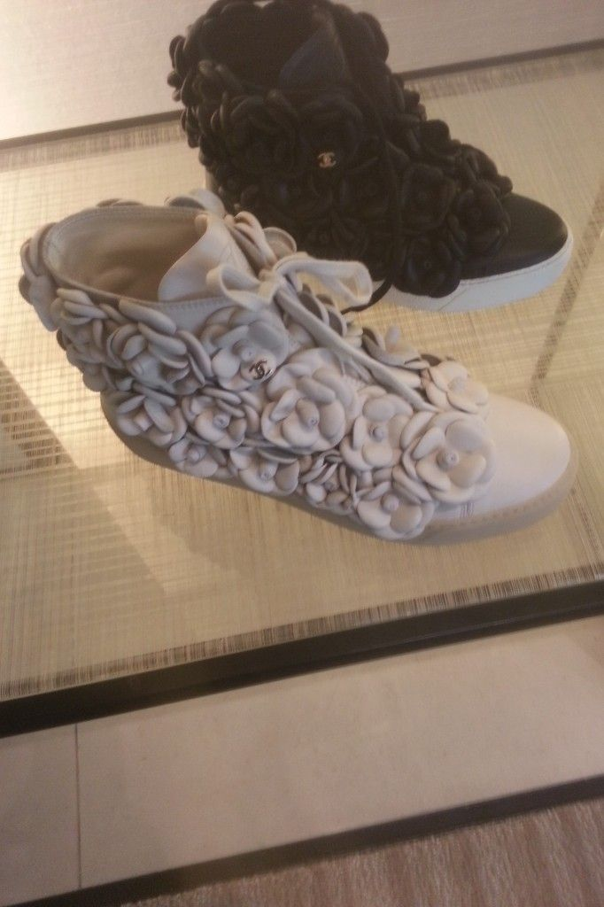 Chanel Spring 2013 Sneakers Trend   Camellia Flowers & Running Shoes