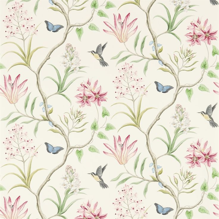 Sanderson - Traditional to contemporary, high quality designer fabrics and wallpapers | Products | British/UK Fabric and Wallpapers | Clementine (DVOY213388) | Voyage of Discovery
