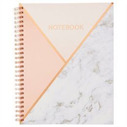 Small Spiral Notebook - Geo Pink