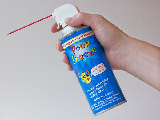 But for those times when it's not solid (ew), there's Poop Freeze, which turns the liquid waste into solid on contact for easy cleanup...kind of genius!