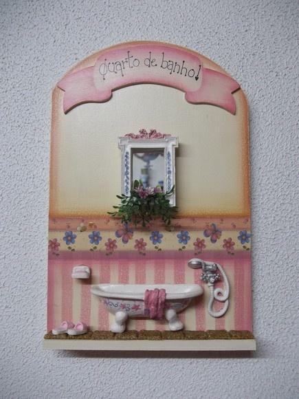 placa para porta de banheiro