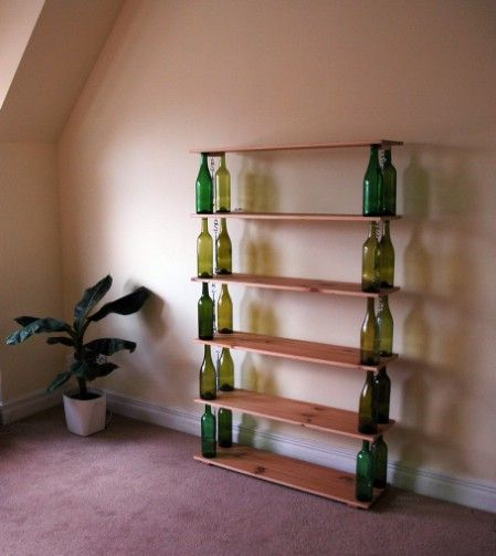 wine bottle bookshelf