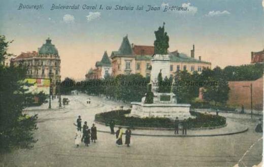 BU-F-01073-5-05582-04 Bulevardul Carol I din Bucureşti. Statuia lui Ion Brătianu, s. d. (sine dato) (niv.Document)