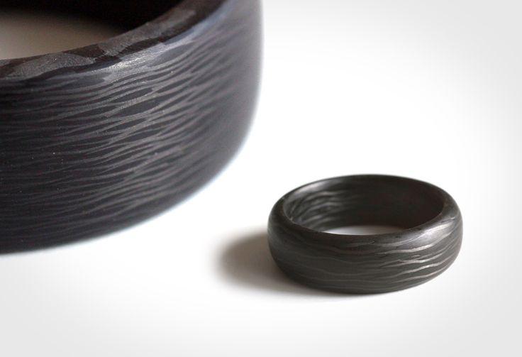 Carbon fiber ring dan pinterest fiber carbon fiber for Kevlar wedding ring
