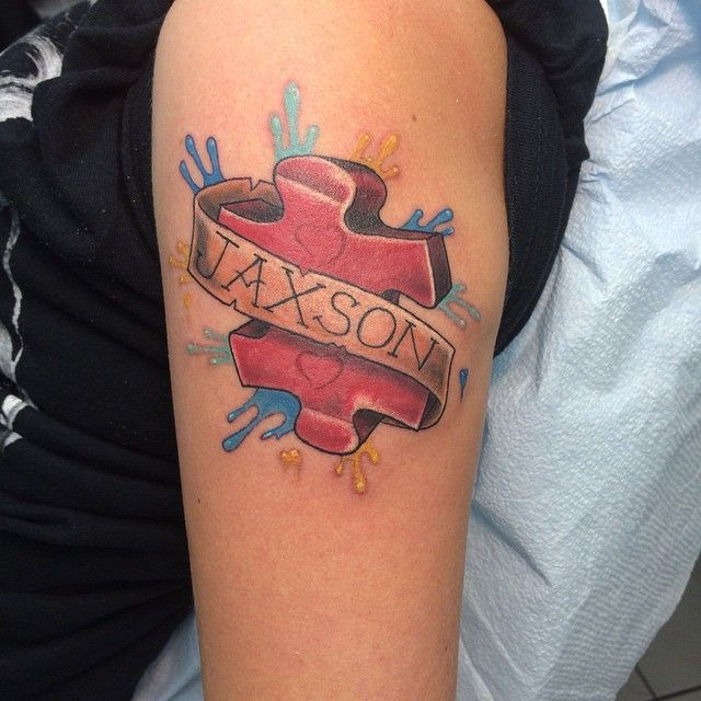 17 Best Images About Puzzle Pieces Tattoos On Pinterest: 41 Best Colorful Puzzle Piece Sister Tattoos Images On