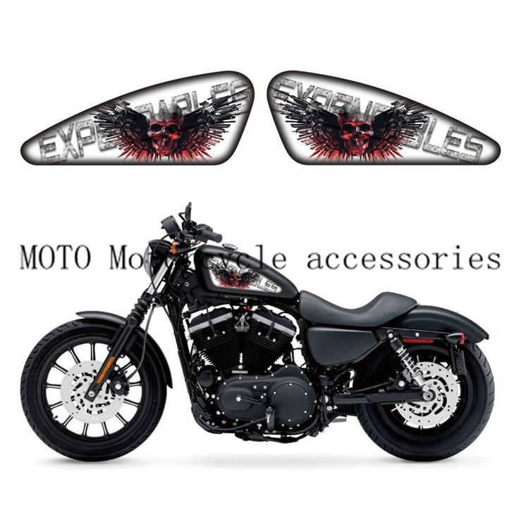 Expendables Logo Graphics Skull Sticker Fuel Tank Decals Stickers For  Sporters XL 883 1200 X/