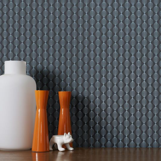 Perle Teal Wallpaper