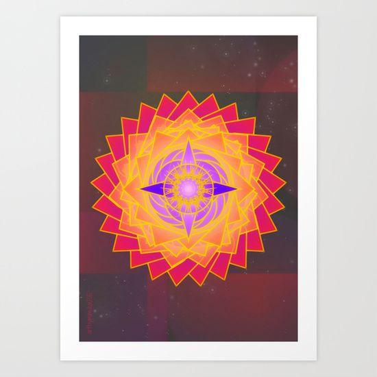 Guiding Star Mandala by mimulux patricia no