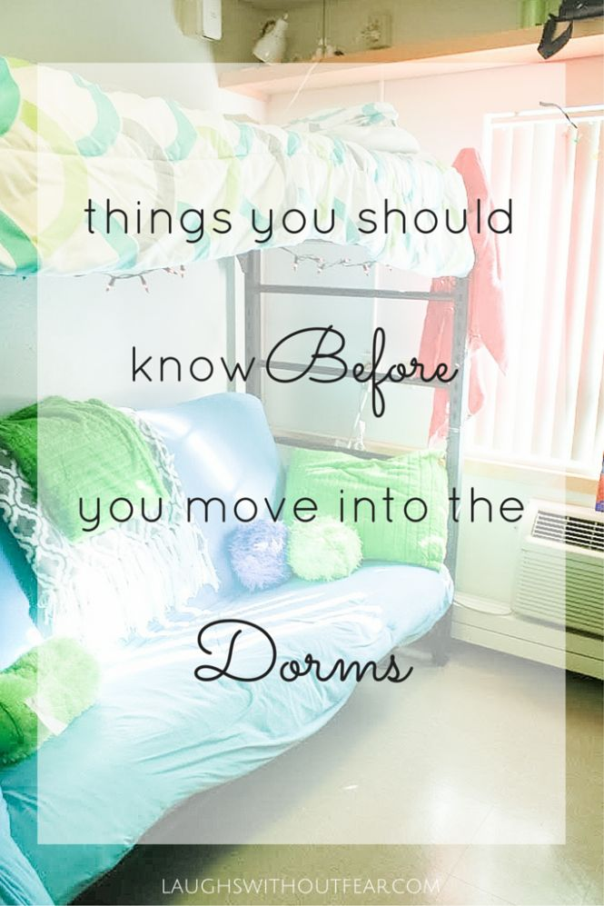 We've all been there: the mystery of dorm life!  It's hard to know exactly what to expect until you've lived in the dorms, but here are some things that I wish I knew before I moved into the dorms.  It might have saved me a lot of stress!  I hope this post is helpful to everyone who is in the same position I was!
