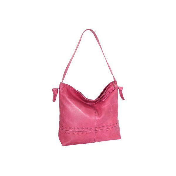 Women's Nino Bossi Hollie Leather Hobo Handbag ($135) ❤ liked on Polyvore featuring bags, handbags, shoulder bags, hobo handbags, pink, leather hobo handbags, white leather handbags, white leather purse, leather man bags and shoulder hand bags