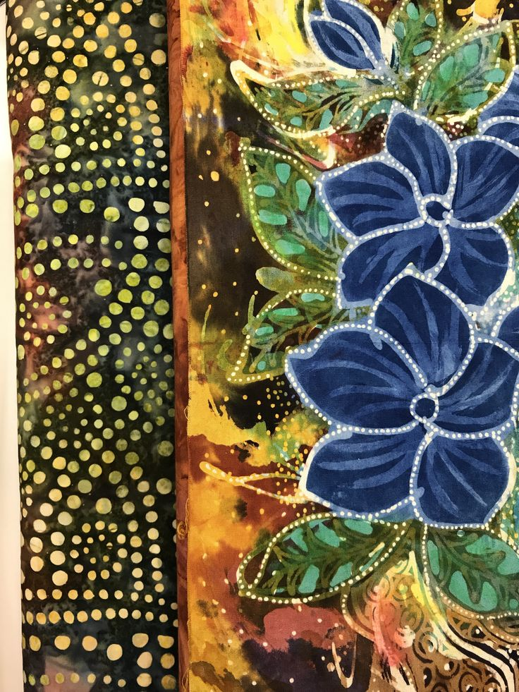 Art quilt in progress using a batik panel from Artistic Artifacts with their Batik Tambal Exclusive Batiks for borders.  http://www.artisticartifacts.com/category/BPN.html
