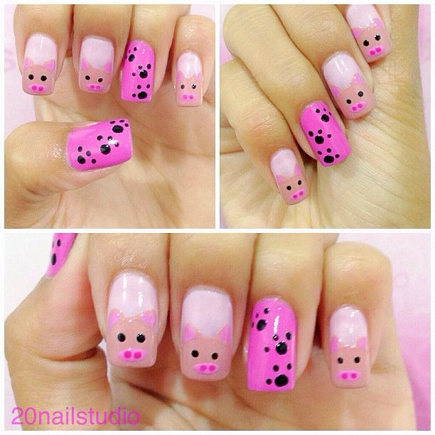 Tree litlle little piggies...Instagram photo by  20nailstudio #basic