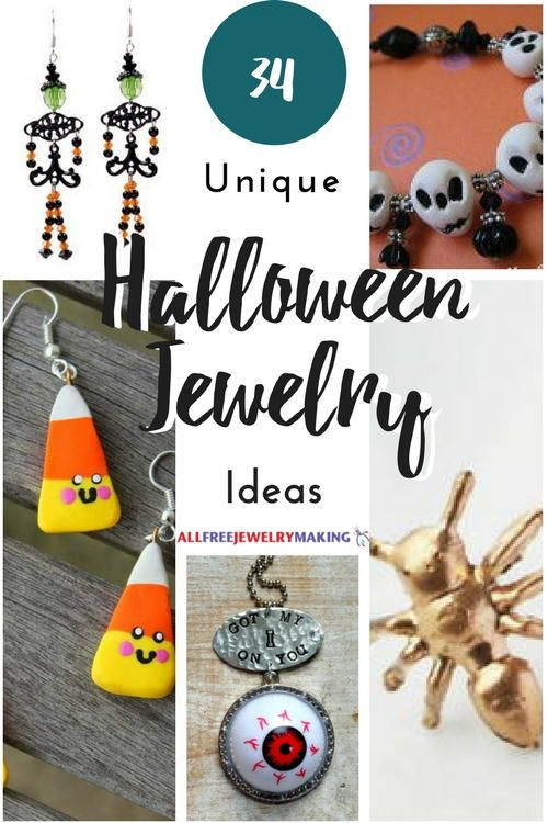 It's never too early to get excited about Halloween! Get a head start on your costume with some of these 34 Unique Halloween Jewelry Ideas!