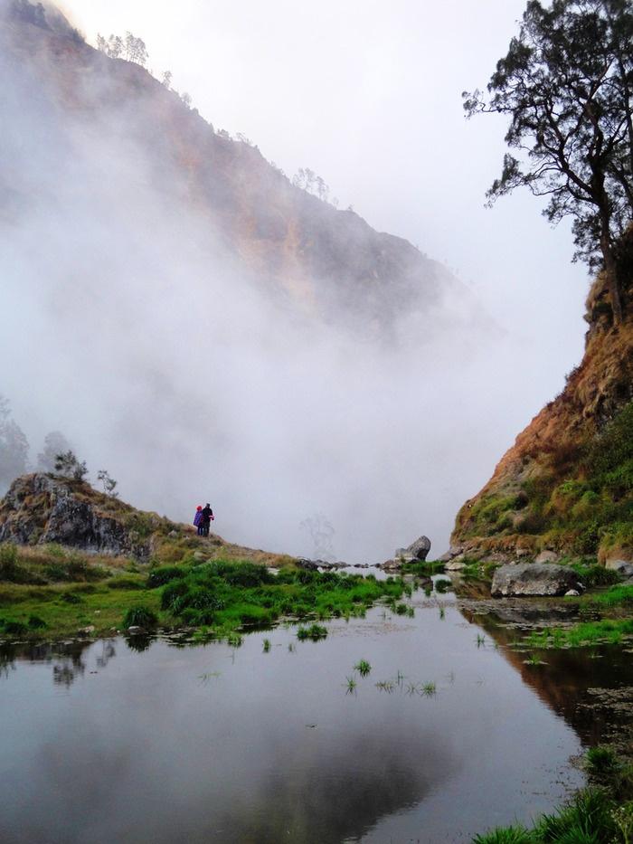 Rinajani's secret garden. Photo by Rini Raharjanti