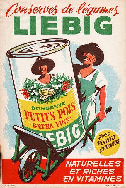 Liebig: Conserve de Petits Pois - 1940 1950 par Jason Liebig,
