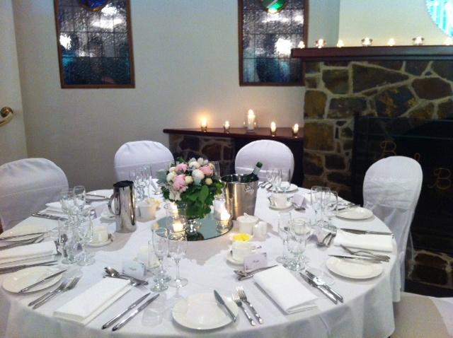 Alisha and John's table setting