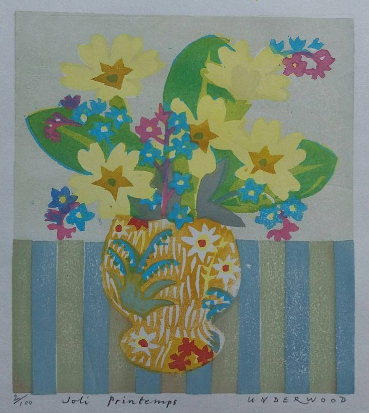 266 vind-ik-leuks, 11 reacties - Matthew Underwood (@mattunderwood_6) op Instagram: 'Joli Printemps. #print #printmaking #flowerstagram #printemps #flower #floral #forgetmenot…'