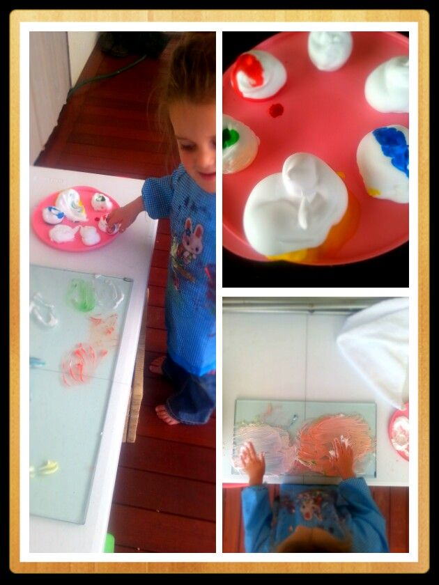 #toddleractivities  This is a mix of shaving cream and food dye on glass!   #fingerpaint  Masadamum.blogspot.com