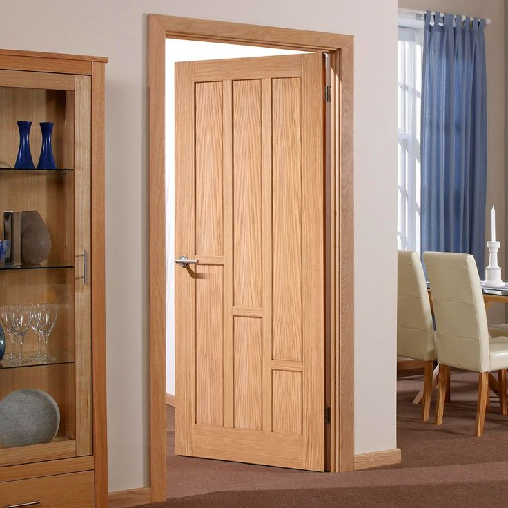 Coventry Contemporary Oak Panel Fire Door - 30 Minute Fire Rated - Lifestyle Image