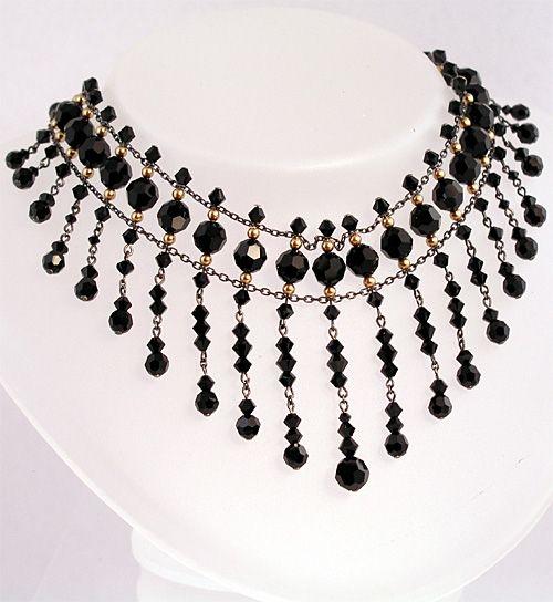 Swarovski Pearls - Swarovski Crystal - Sterling Silver Choker  Swarovski Crystal and Swarovski Pearl choker necklace in Antiqued Sterling silver.