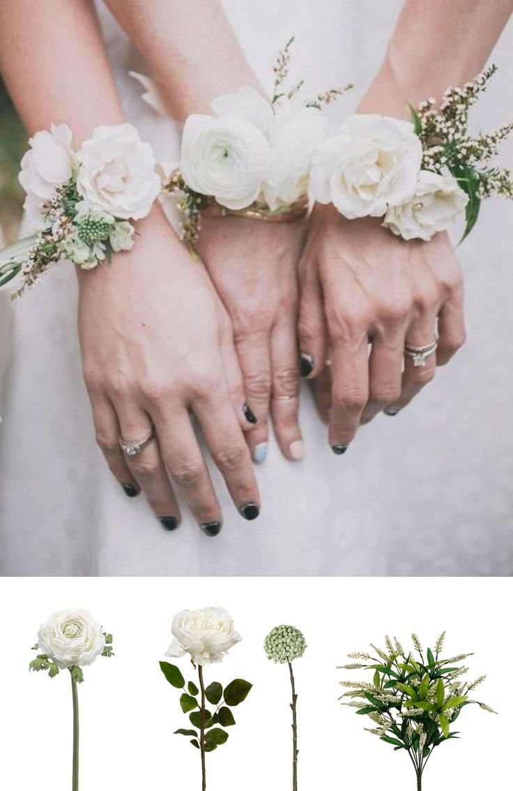 Make this beautiful corsage with silk flowers and ribbons from afloral.com #diycorsage
