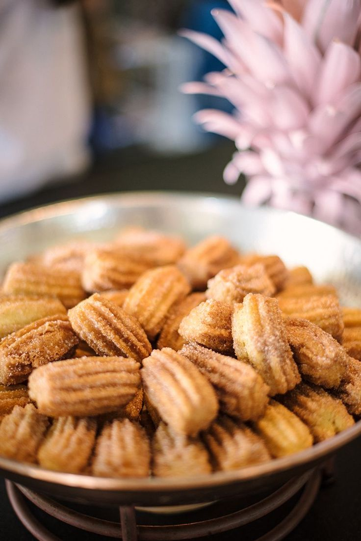 Yes, you heard that right — there were freshly made mini churros. Swoon