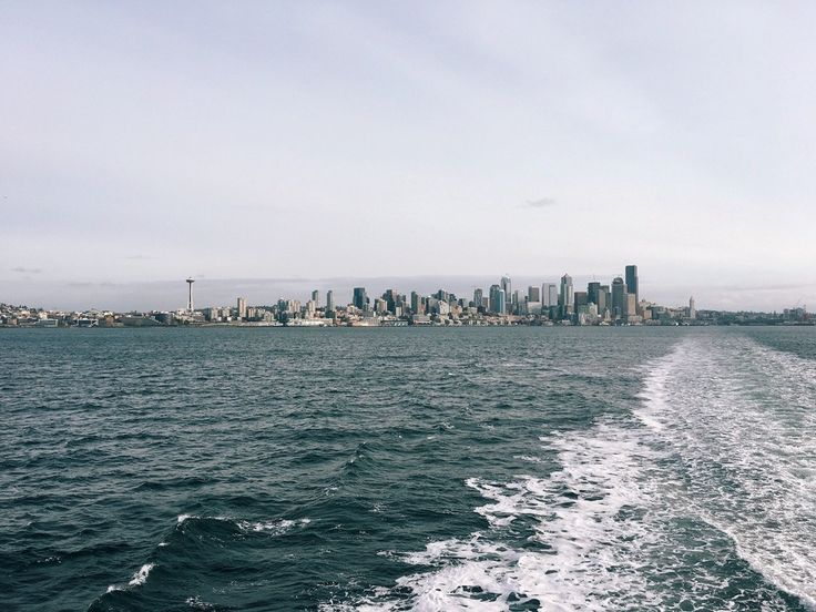 Seattle Skyline from the Bremerton ferry this morning : Seattle
