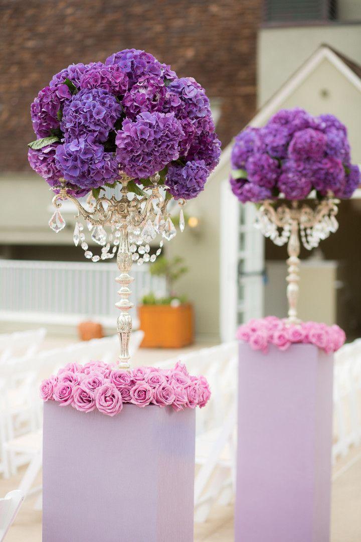 Photo: The Youngrens - purple wedding ceremony idea