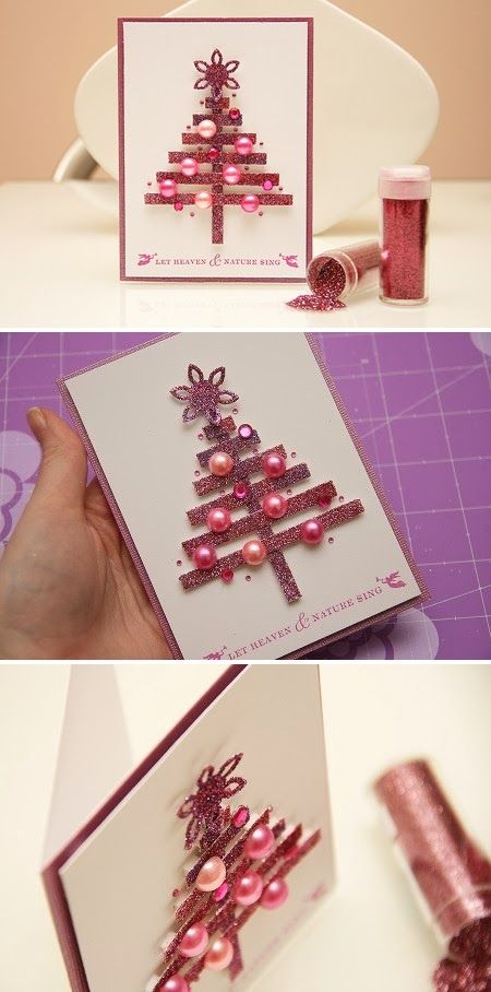 Awesome idea for a Christmas card. I need something I can make 30+ times fairly easily.