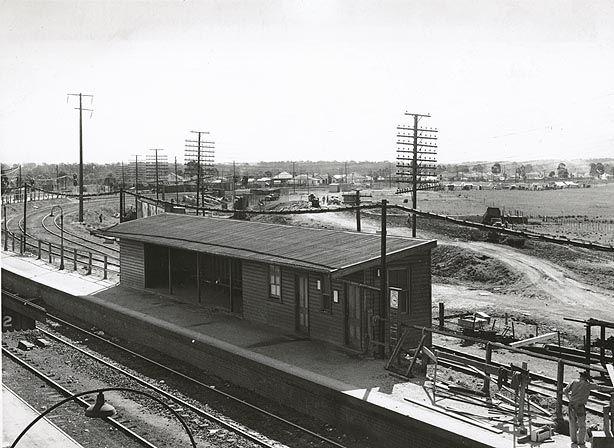 State Records NSW - Blacktown Railway Station Platform 1-1954