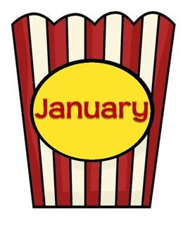 I plan on using these for my birthday board.  Each students' name will be on a piece of popcorn for their birth month.  I will use a header