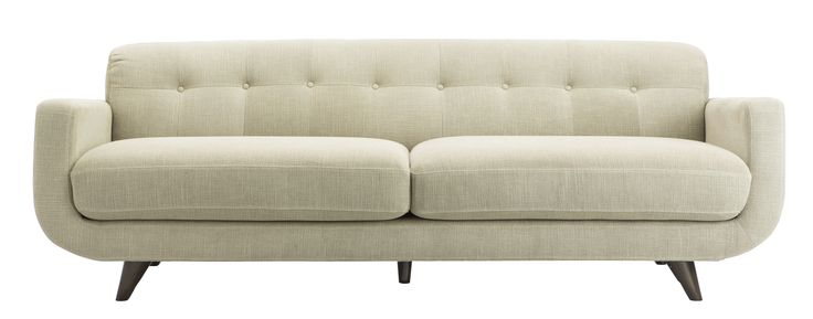With its beautiful curved shape, finely pointed timber legs and softly sumptuous upholstery, Dare Gallery's 3-Seater Cohen Sofa will cut a stylish figure in your lounge-room.  Price $2,199.  Dress with your choice of scatter cushions to showcase your individual style.