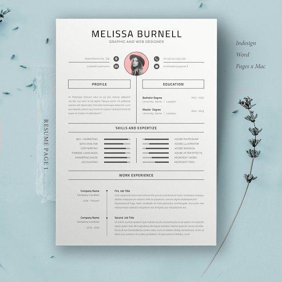 Resume Template Melissa Resume Template Creative Resume Templates Resume Design Template